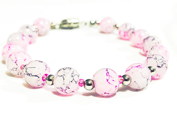 Pink Rutilated quartz bracelet