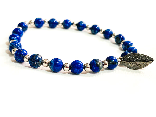 Nikki Blue Beaded Bracelet