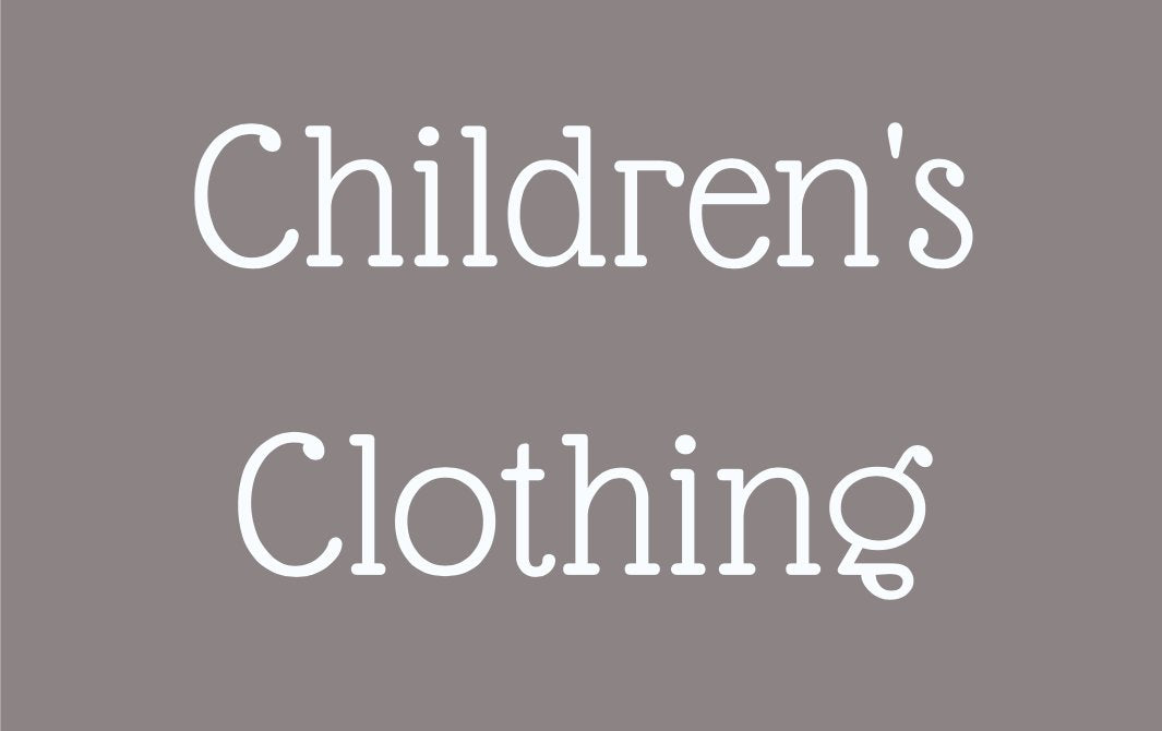 CHILDREN'S CLOTHINGS