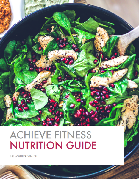 Achieve Fitness Nutrition Guide