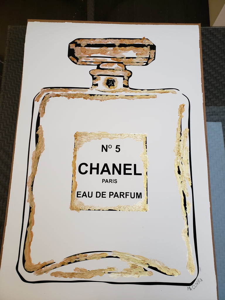 Mr. Clever - Chanel No 5 - Hand Finished Screenprint