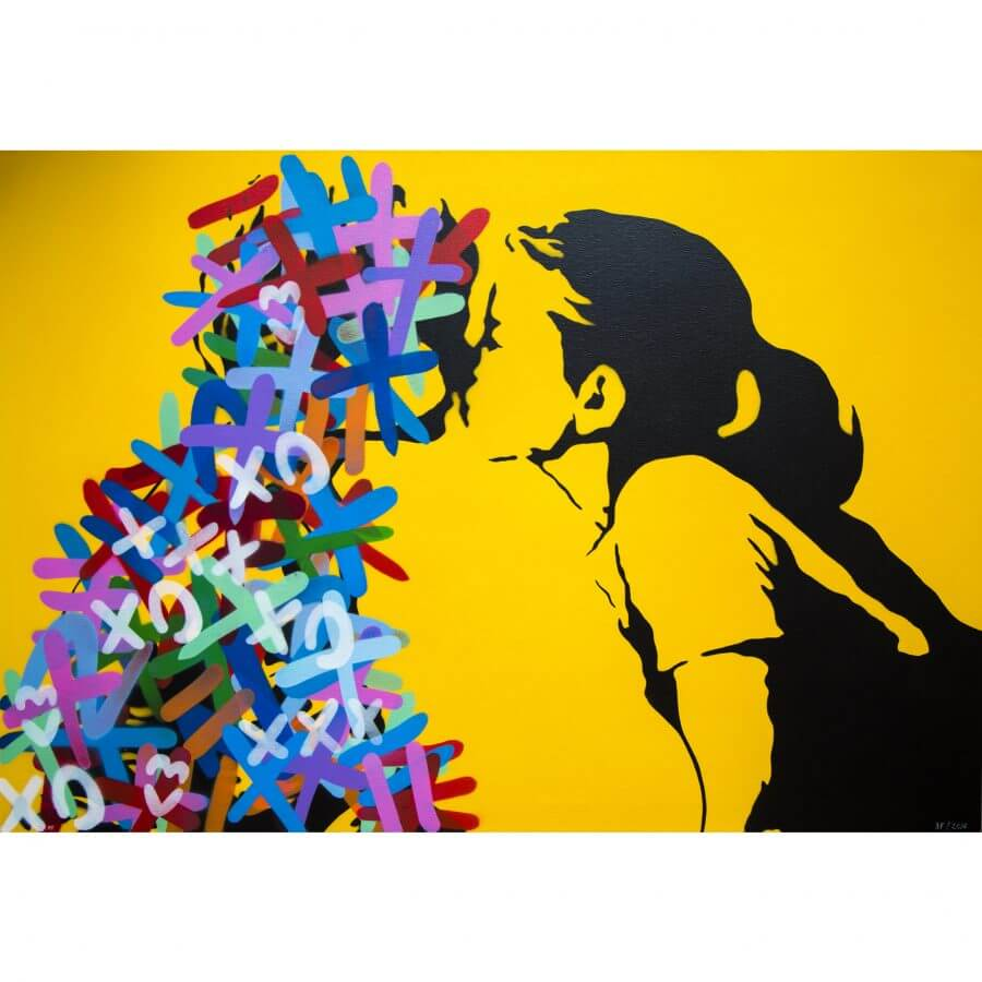 3F - The Kiss Canvas