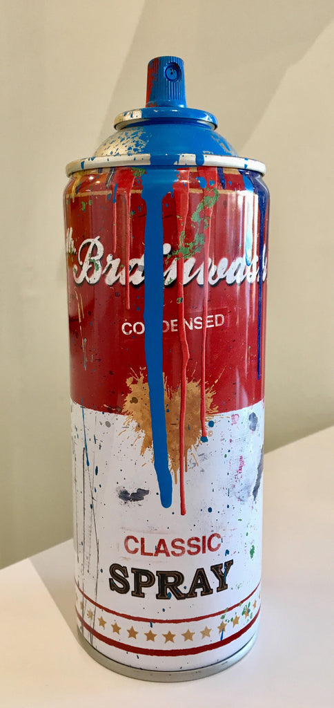 Mr Brainwash - Campbell's Soup Spray Can Sculpture (Blue)