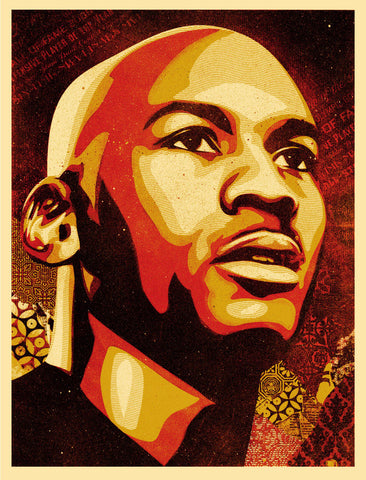 Shepard Fairey-Micheal Jordan Hall of Fame