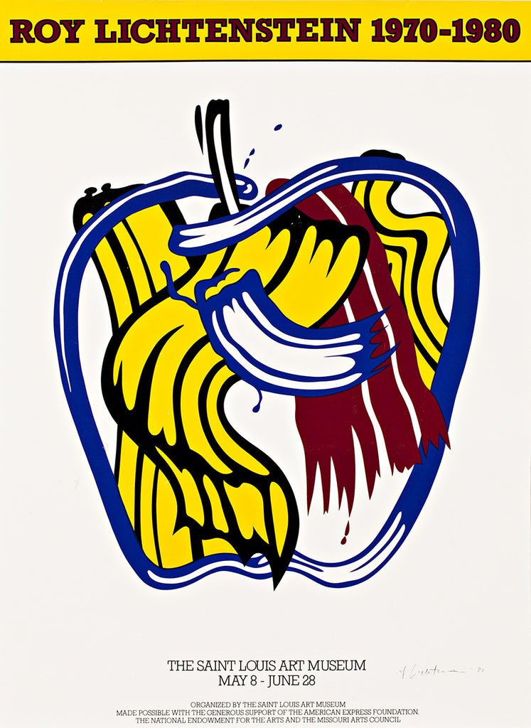 LICHTENSTEIN - EXHIBITION POSTER (APPLE) 1981