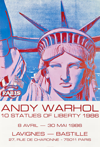 Andy Warhol - Statues of Liberty 1986 Poster