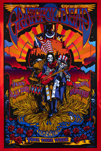 FORBES & JOHNSON - GRATEFUL DEAD FARE THEE WELL (CHICAGO) POSTER FIELD FOIL