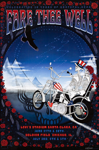 FORBES & JOHNSON - GRATEFUL DEAD FARE THEE WELL CHOPPER SKYLINE