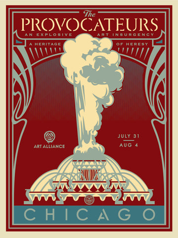 Shepard Fairey - The Provocateurs (Chicago) - Blue