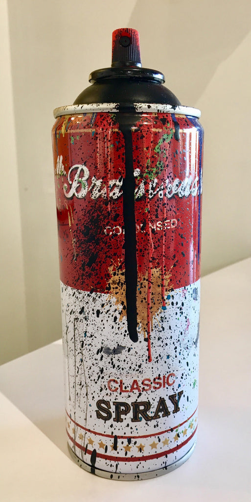 Mr Brainwash - Campbell's Soup Spray Can Sculpture (Black)