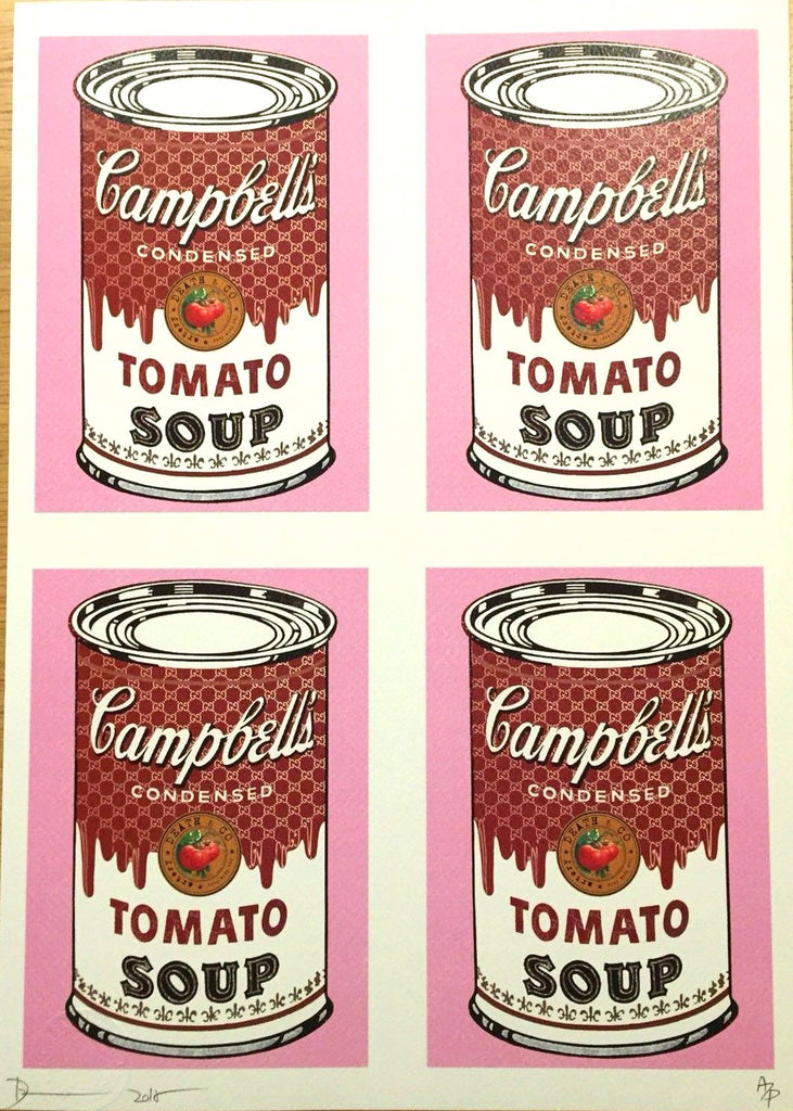 Death NYC - Campbell's Tomato Soup Cans Pink