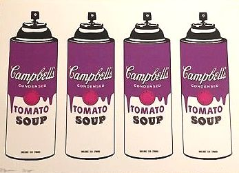 Death NYC - Campbell's Tomato Soup Spray Cans Purple