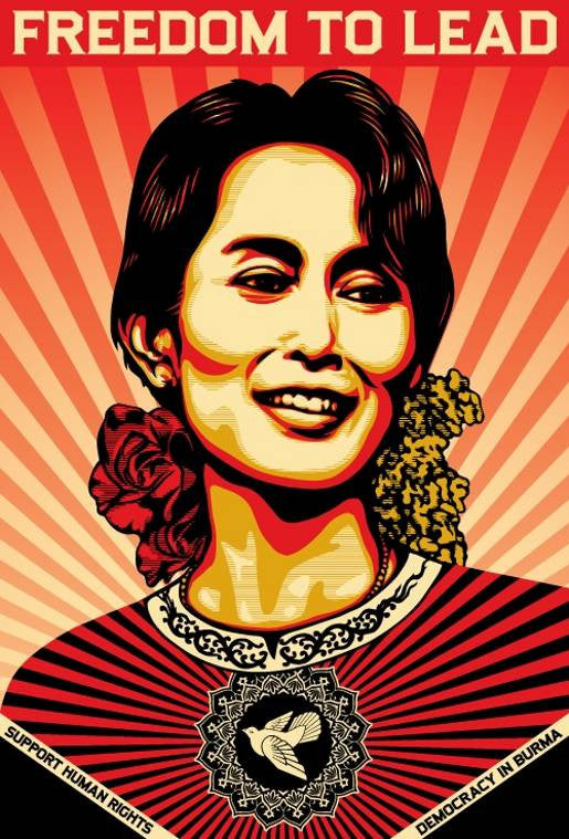 Shepard Fairey - Freedom To Lead