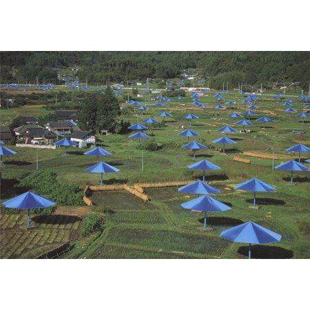 Javacheff Christo- Blue Umbrellas | Ibaraki, Japan 1991