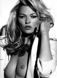Kate Moss - Glamour Topless - High Quality Poster