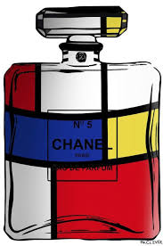 Mr. Clever Art - Chanel No.5 Mondrian