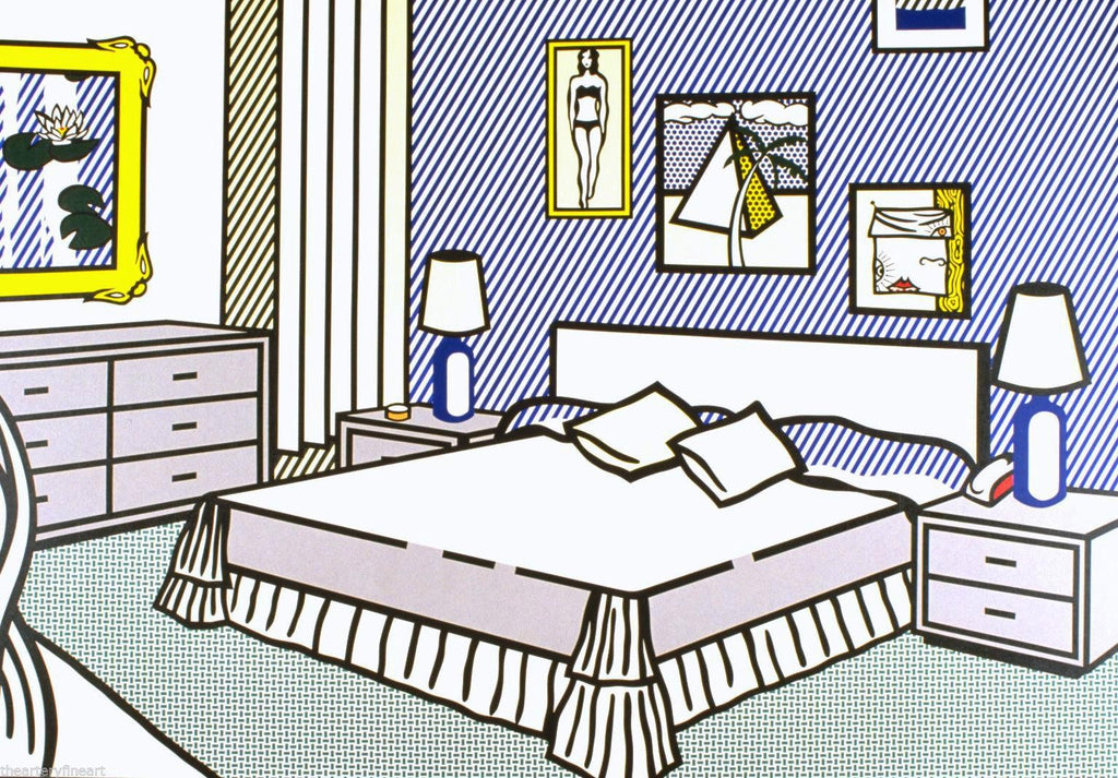 Roy Lichtenstein - Interior with Waterlillies Lithograph