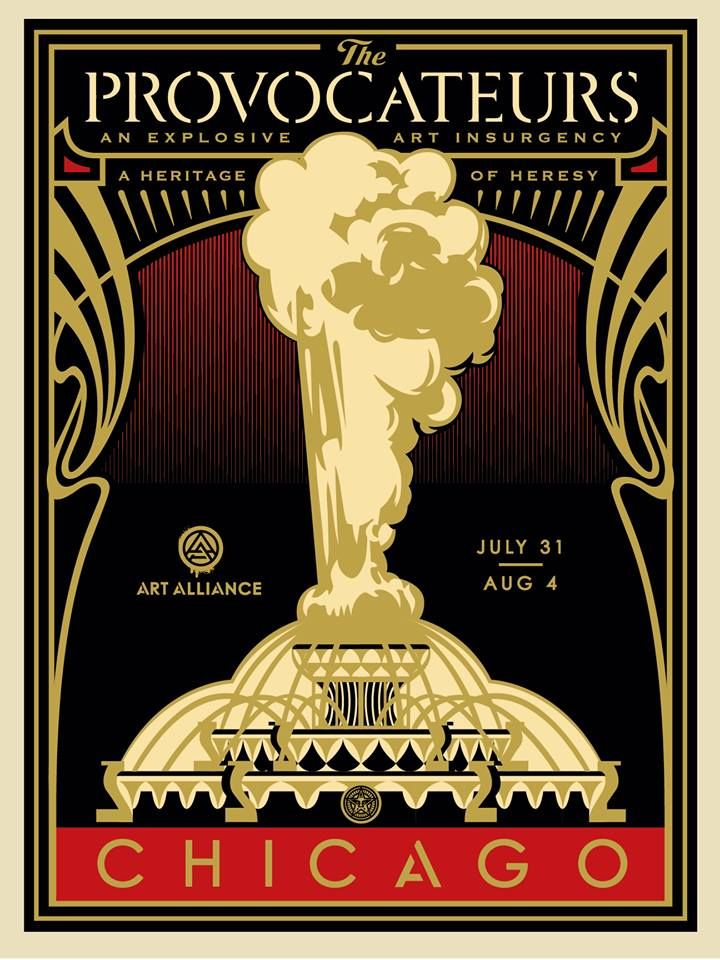 Shepard Fairey - The Provocateurs (Chicago) - Gold