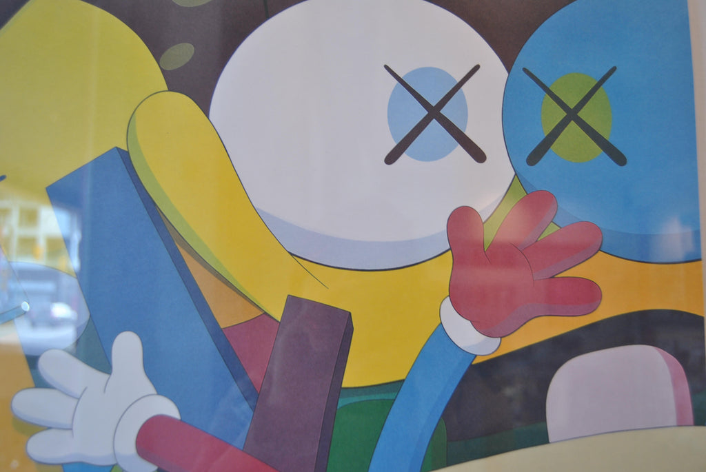 KAWS - Gering and Lopez Gallery Exhibition Poster (2008) FRAMED
