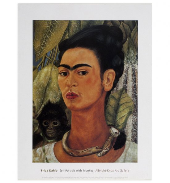 Frida Kahlo - Self-Portrait with Monkey (Albright Knox Art Gallery)