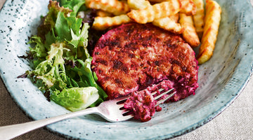 Beetroot and Halloumi Burgers