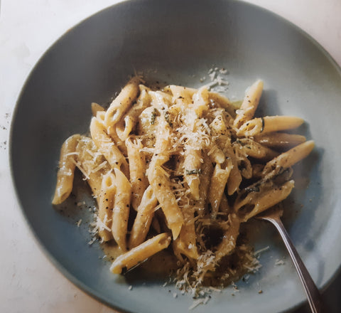 Creamy cheese pasta using Gorgonzola Piccante