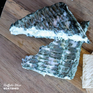 Blue cheese made from buffalo milk by BoatShed.