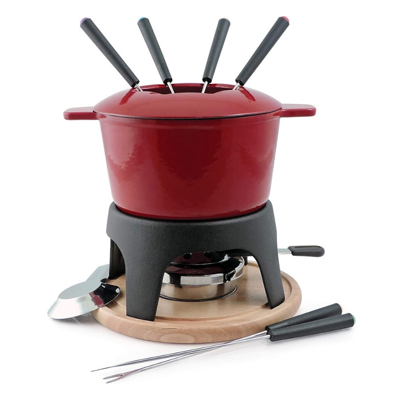 Swissmar 11 piece Fondue Set - Cherry Red