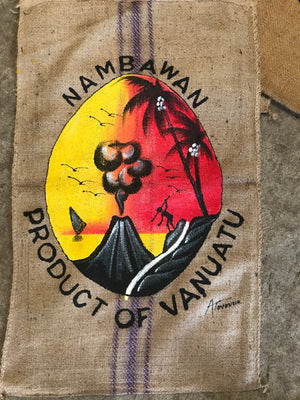 Hand Painted Tanna Coffee Sacks