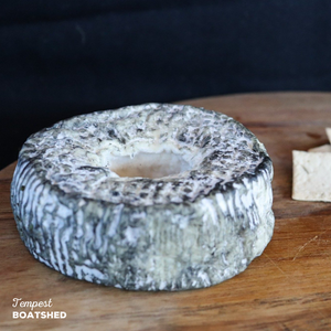 Doughnut shaped cheese named Tempest, made by BoatShed.
