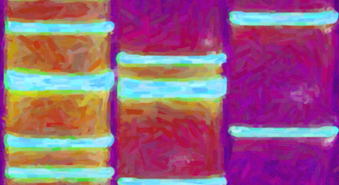 Abstract Bright Digital DNA Art