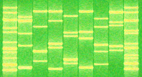 Newborn Portrait DNA Art Abstract Green