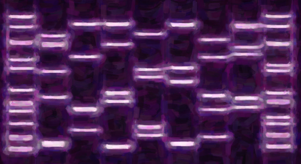 Abstract Purple DNA Portrait