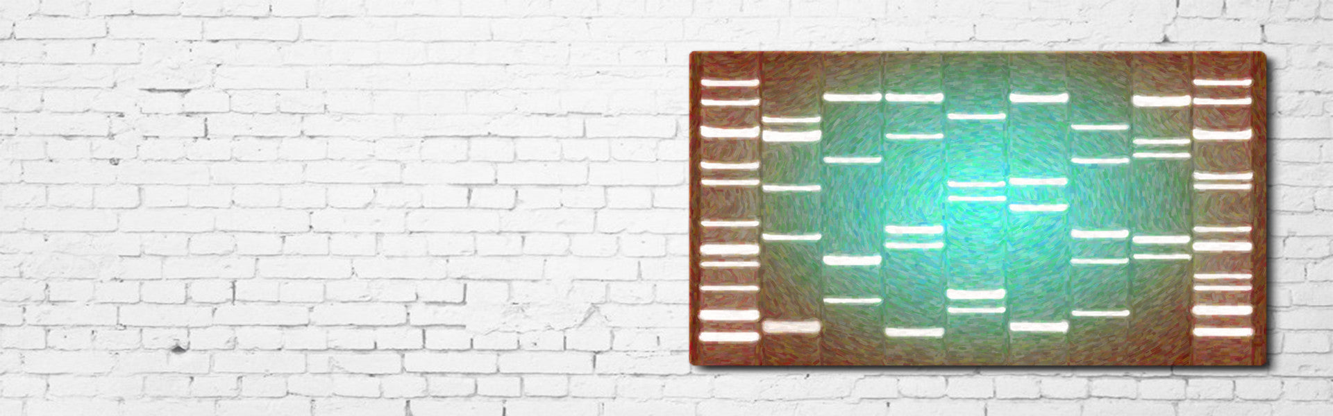DNA Art as Unique Wall Decor