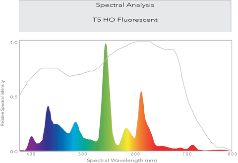 spectral analysis t5 ho fluorescent