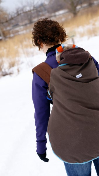 Winter Carrier Cover by Catbird Baby