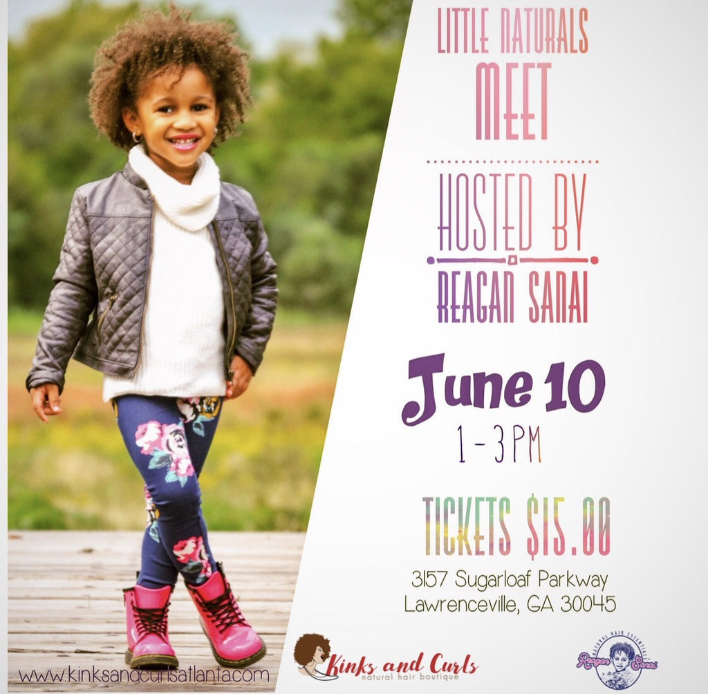 Reagan Sanai Natural Hair Essentials Little Naturals Meet in Atlanta, GA
