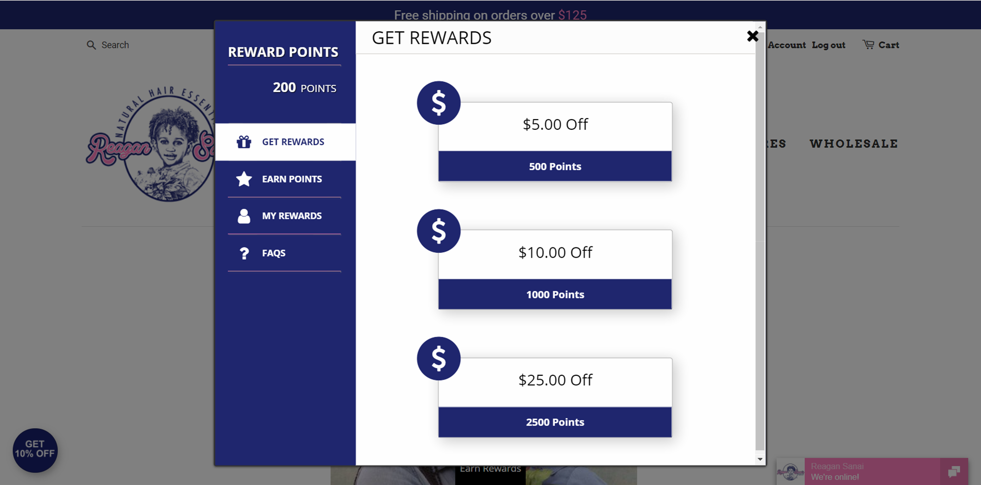 Reagan Sanai redeem rewards