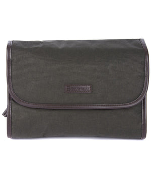 Barbour Waxed Hanging Toiletry Bag