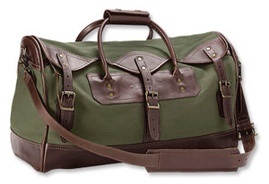Orvis Bootlegger Leather and Canvas Small Duffle