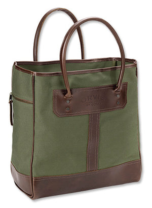 Orvis Bootlegger Leather & Canvas Tote Bag