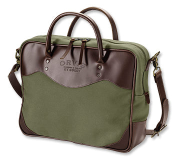 Orvis Bootlegger Leather and Canvas Briefcase