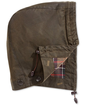 Barbour Sylkoil Waxed Cotton Hood