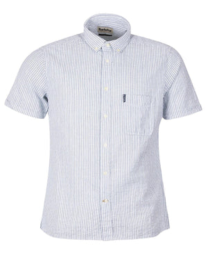 Barbour Seersucker 10 Short Sleeved Tailored Shirt