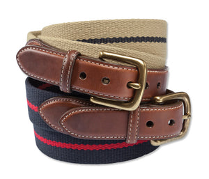 Orvis Cotton and Leather Surcingle Belt