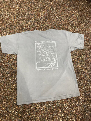 Rivers and Glen Custom Map Tshirt