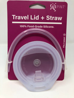 Silipint Travel Lid + Straw