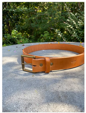 Hooks Crafted Leather Co. Tan Bridle Belt