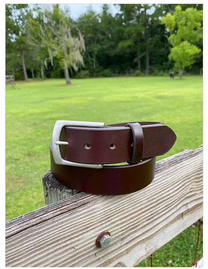 Hooks Crafted Leather Co. Havana Bridle Belt