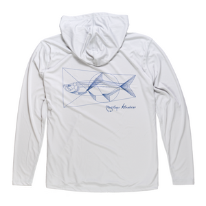 Flood Tide Co. Vitruvian Tarpon Hooded Sunshirt
